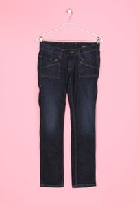 Pepe Jeans - Used Look-Jeans mit Logo-Patch - S