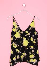 TOPSHOP - ärmelloses Top mit floralem Muster - S