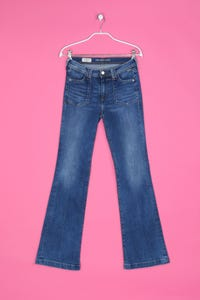 Pepe Jeans London - Used Look Bootcut-Jeans mit Logo-Patch - XS