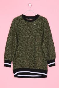 ZARA WOMAN - Spitzen-Sweatshirt mit Kontrastbündchen - S